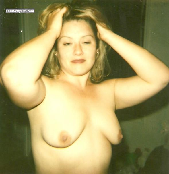 Tit Flash: Small Tits - Topless Kim from United States