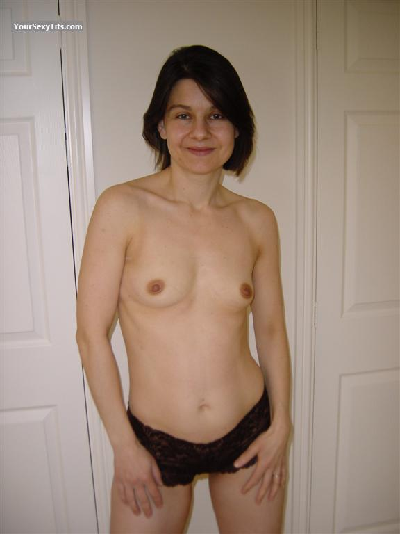 Tit Flash: Wife's Small Tits - Topless Louise from United Kingdom
