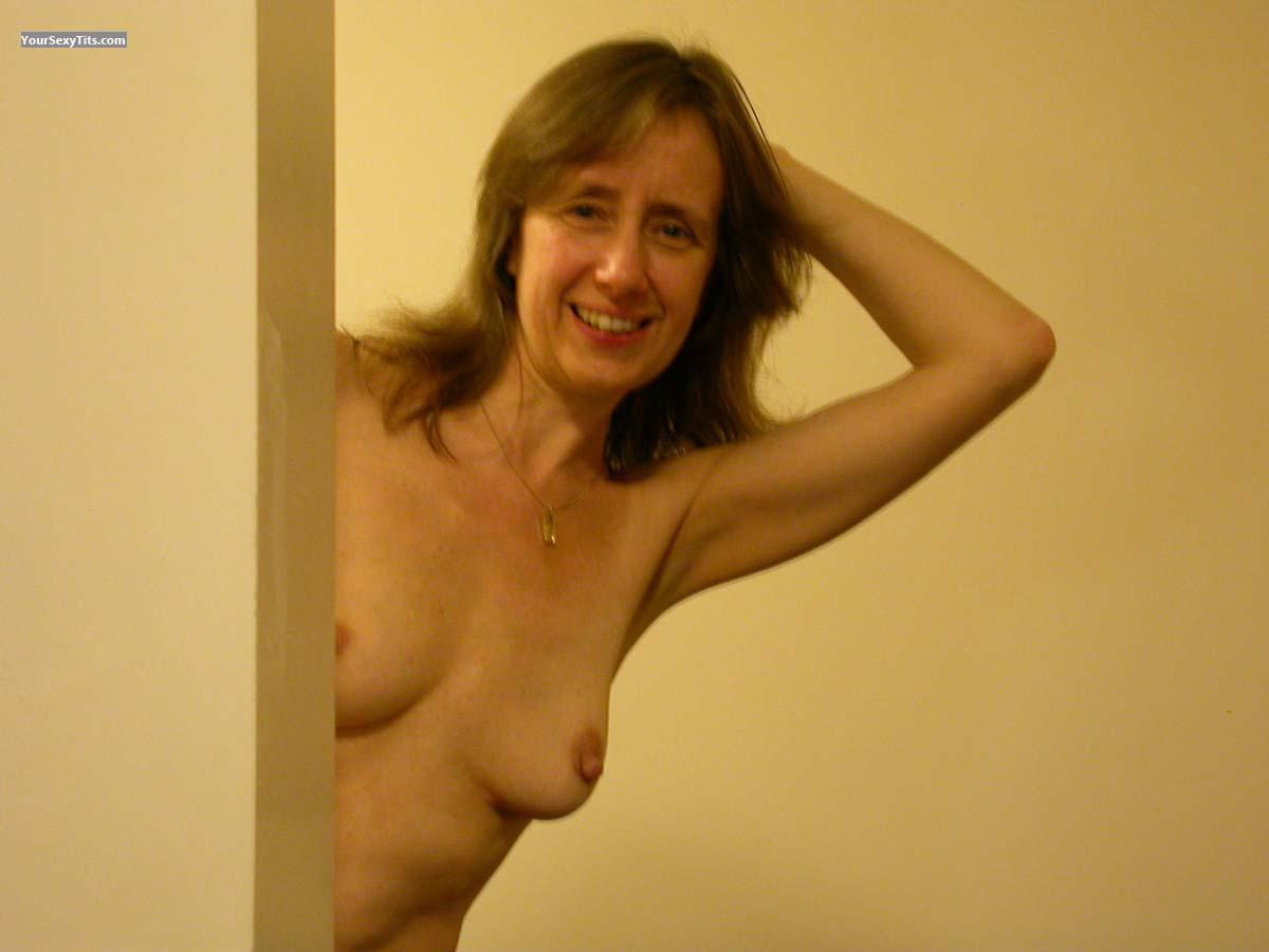Tit Flash: Small Tits - Topless LouiseUK from United Kingdom