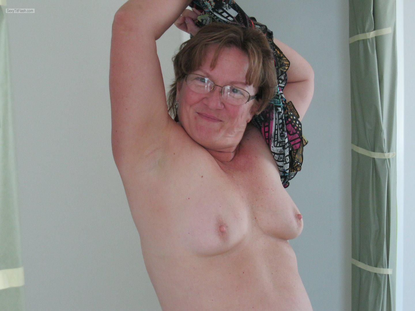 Tit Flash: My Small Tits - Topless Karenkri from United States