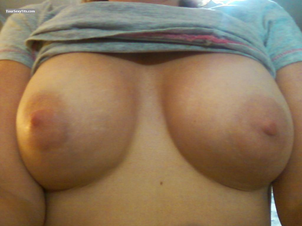 Tit Flash: Wife's Small Tits (Selfie) - Samantha from United States