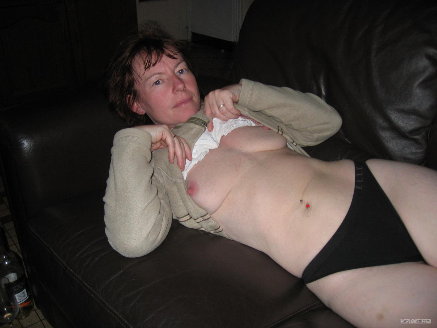 Tit Flash: My Small Tits - Topless Tracie from United Kingdom