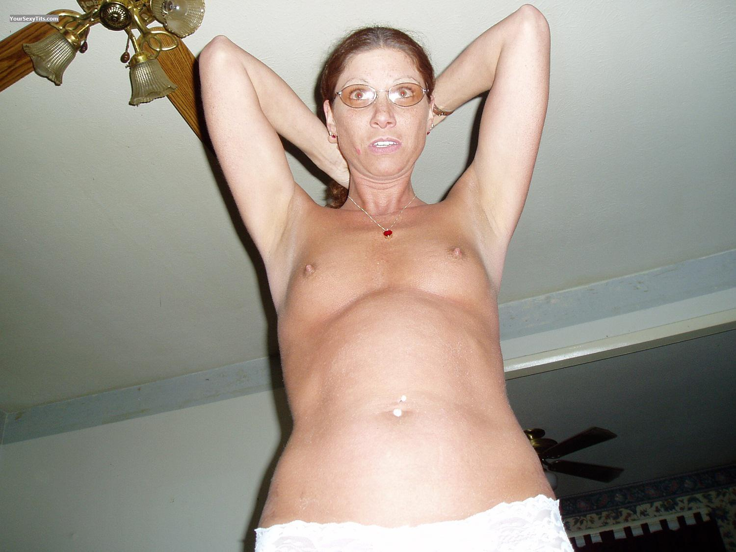 Tit Flash: Small Tits - Topless Dee from United States