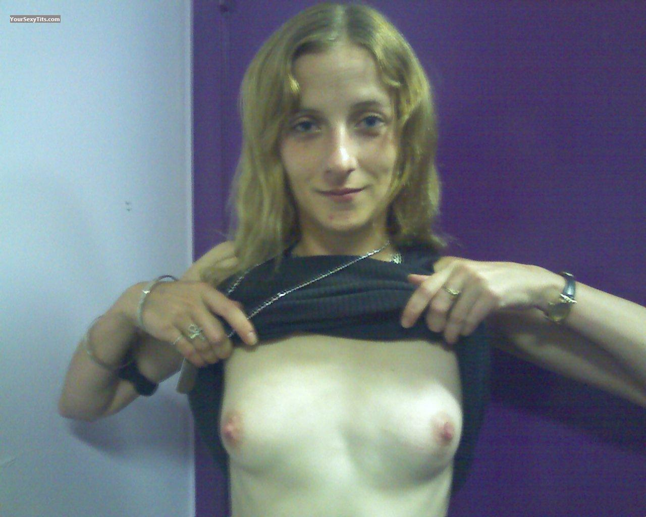 Tit Flash: Small Tits - Topless Toni from United States