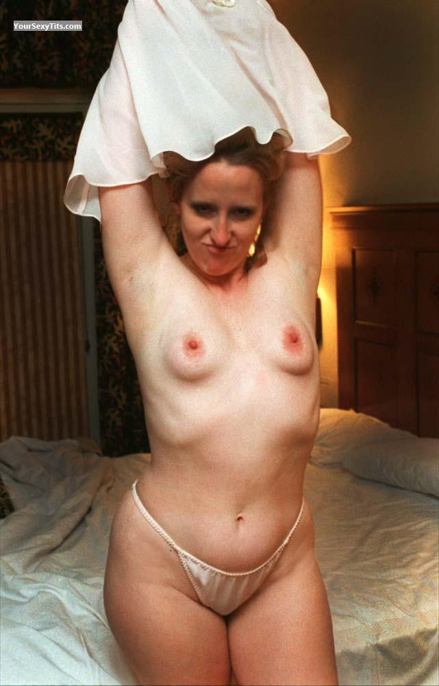 Tit Flash: Small Tits - Topless Susan from United States