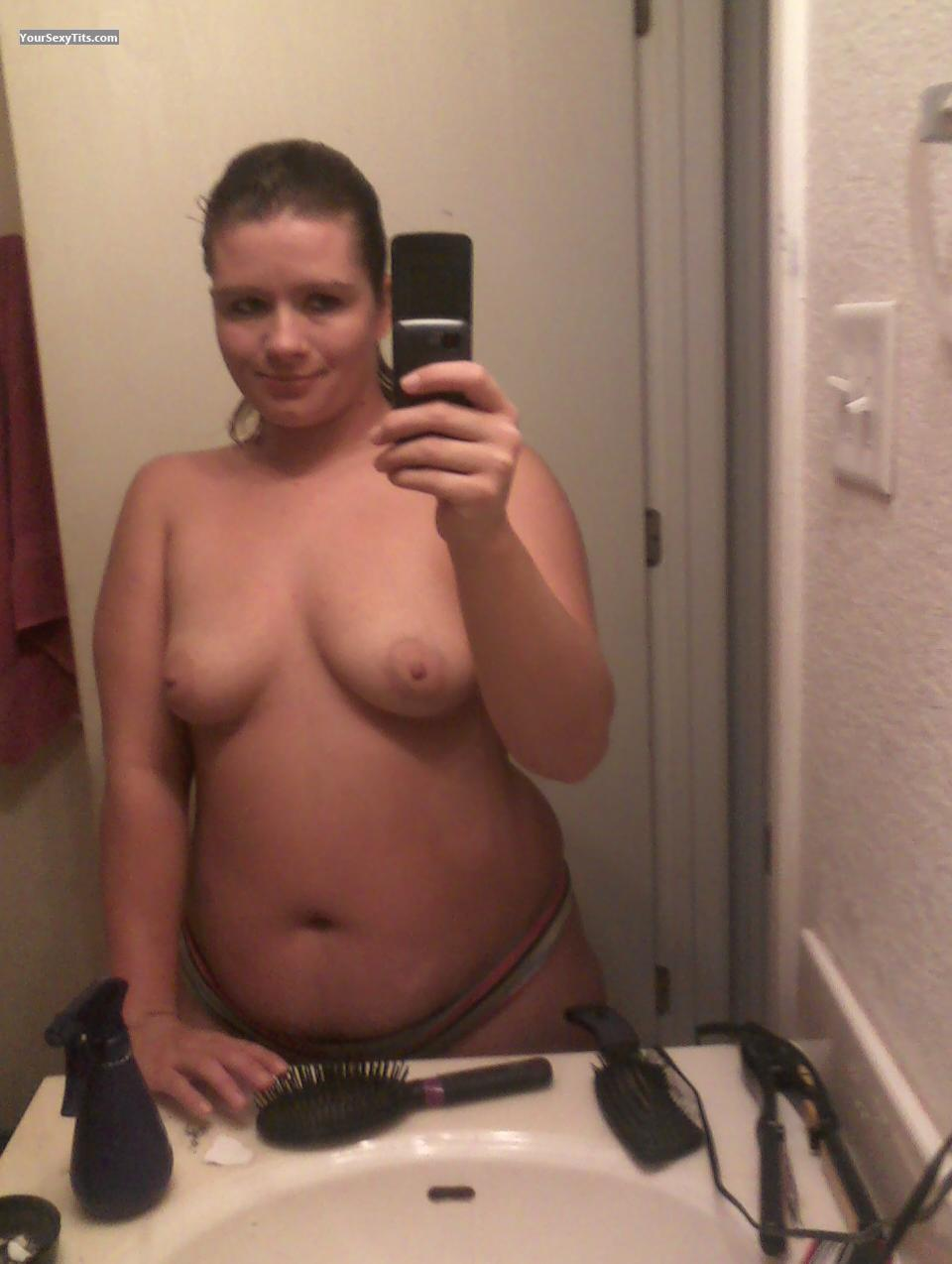 Naked big fake tits