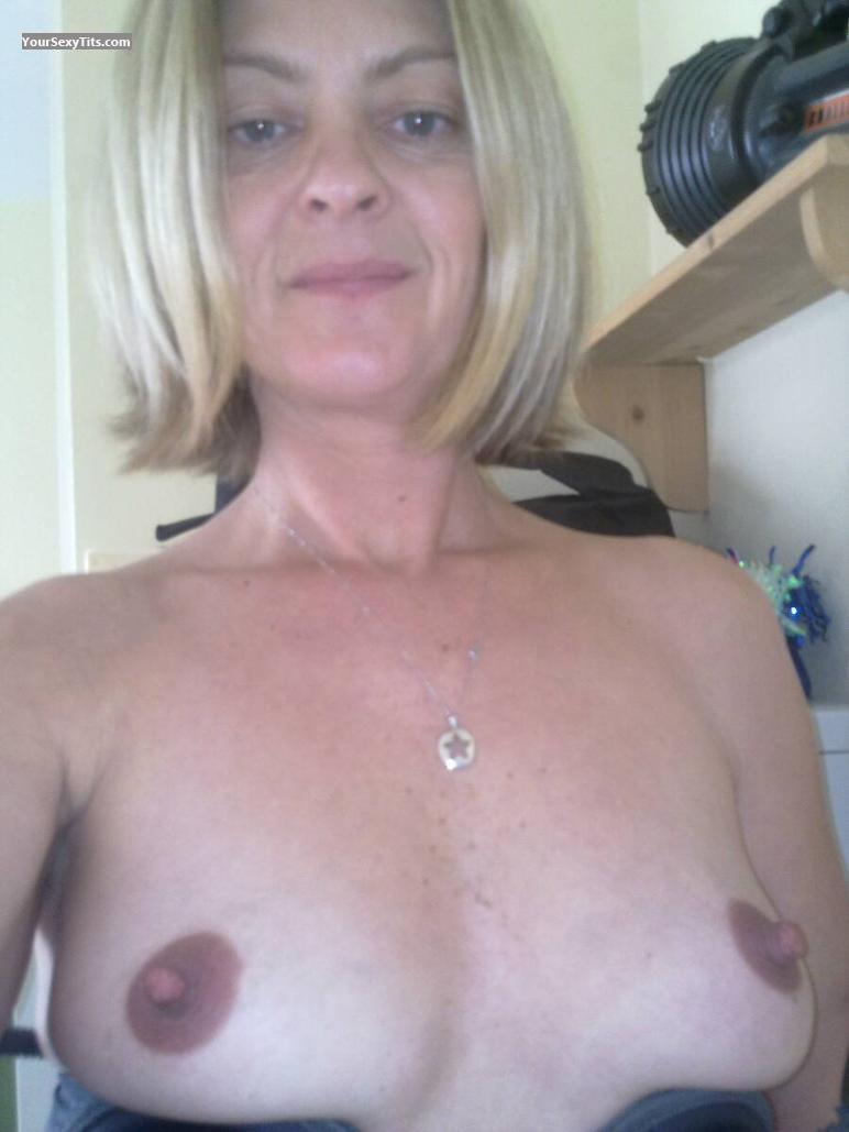 Tit Flash: My Small Tits (Selfie) - Topless Big Nips from Canada
