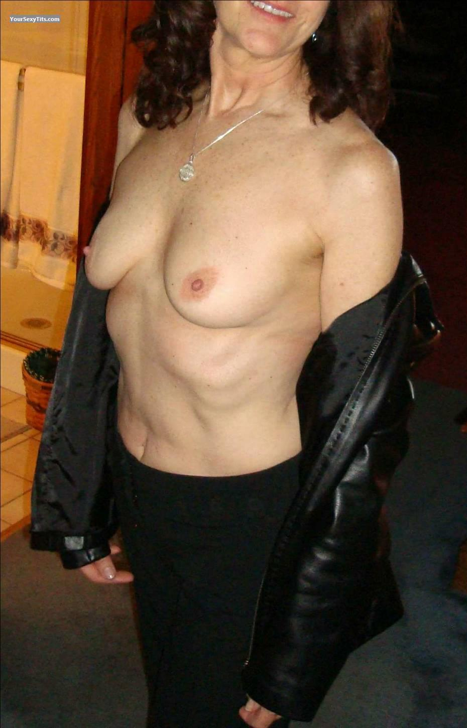 Tit Flash: Small Tits - Debbie from United States