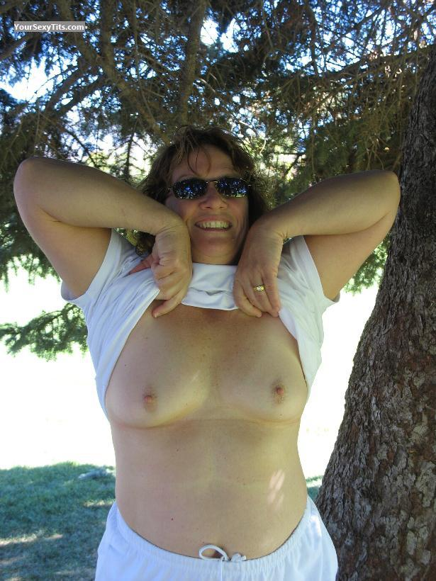Tit Flash: My Small Tits - Topless Ericn from United States