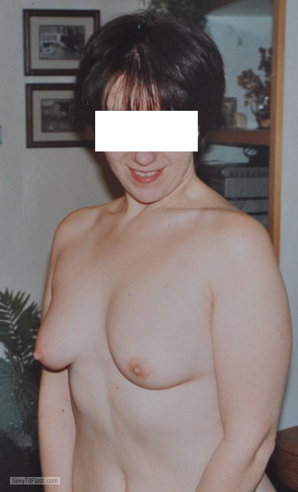 Tit Flash: Wife's Small Tits - Rainmist from United Kingdom