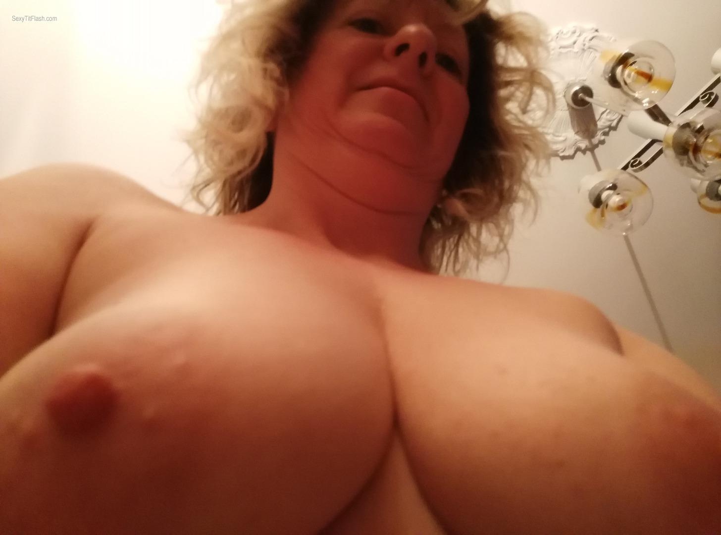 Tit Flash: My Small Tits - Topless Elisa from United Kingdom