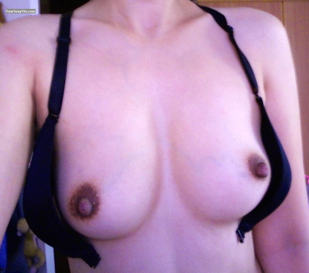 Tit Flash: My Small Tits (Selfie) - Tat from Mexico