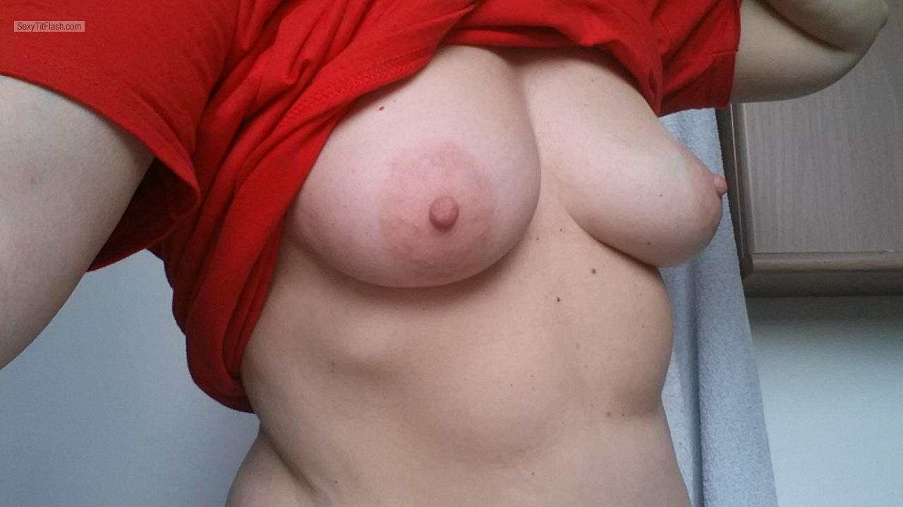 My Small Tits Topless Selfie by Elisa