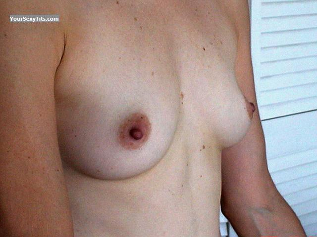 Tit Flash: Wife's Small Tits - Angelica from Mexico