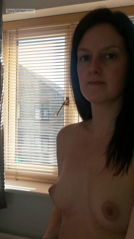 Tit Flash: My Small Tits (Selfie) - Topless OfficeWorker from United Kingdom