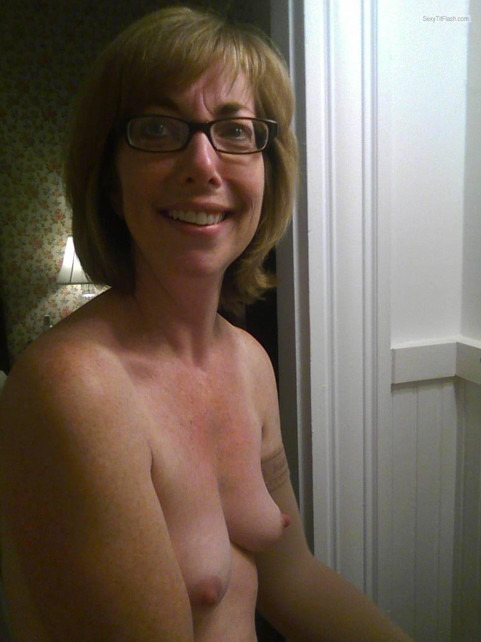44 year old big tits cougar takes facial 1