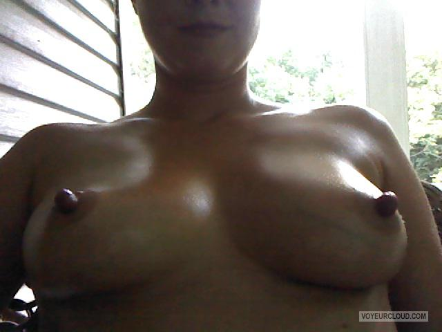 Tit Flash: Girlfriend's Medium Tits (Selfie) - Hot Momma from United States