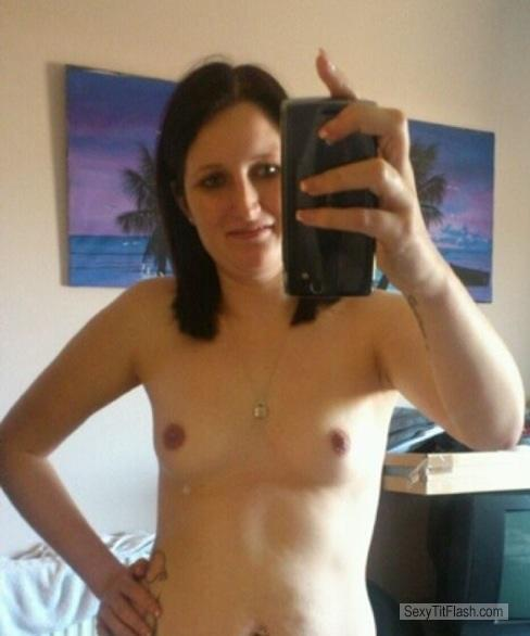 My Small Tits Topless Selfie by Carly Watson Perth