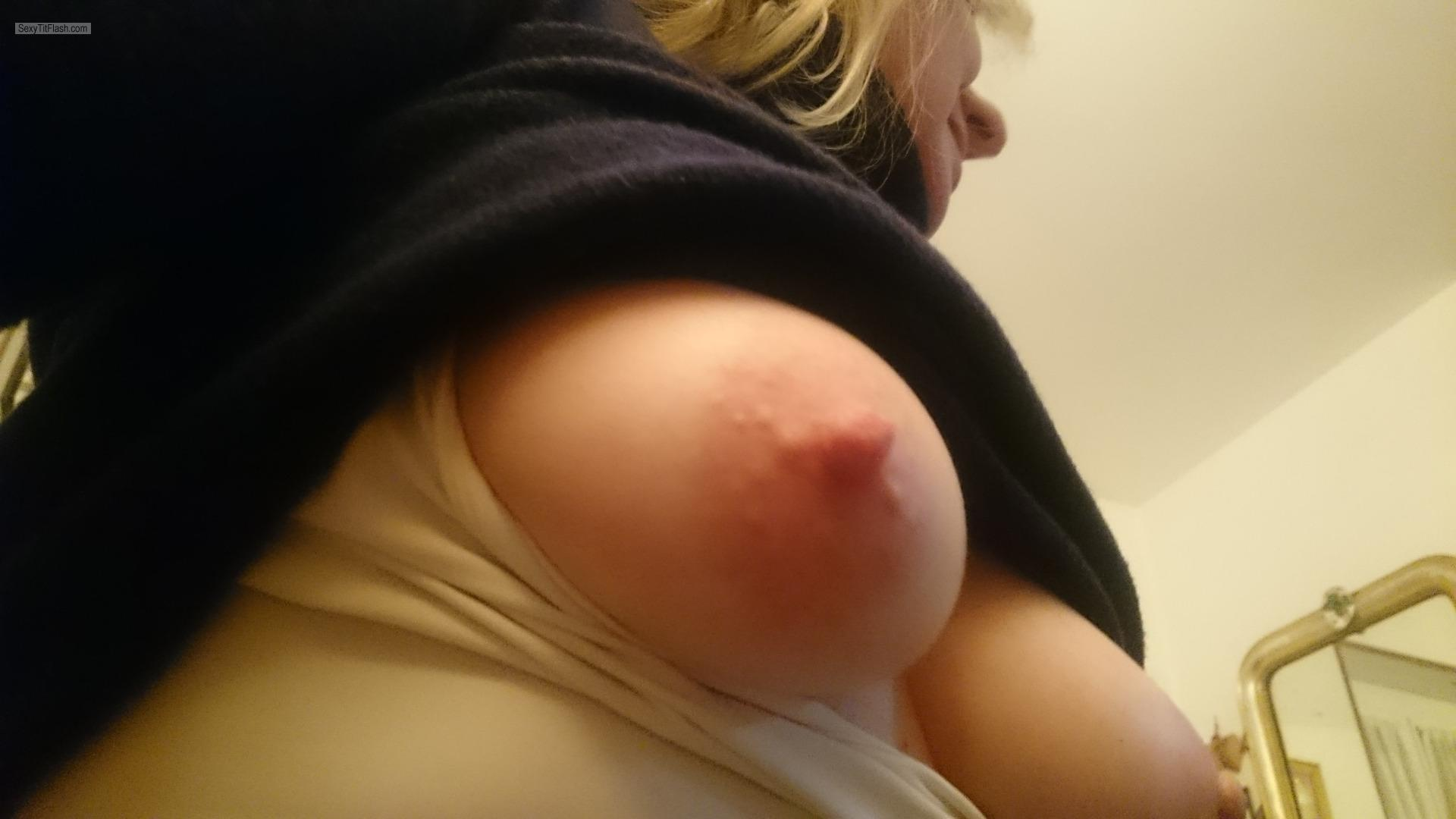 Tit Flash: My Medium Tits - Elisa from Italy