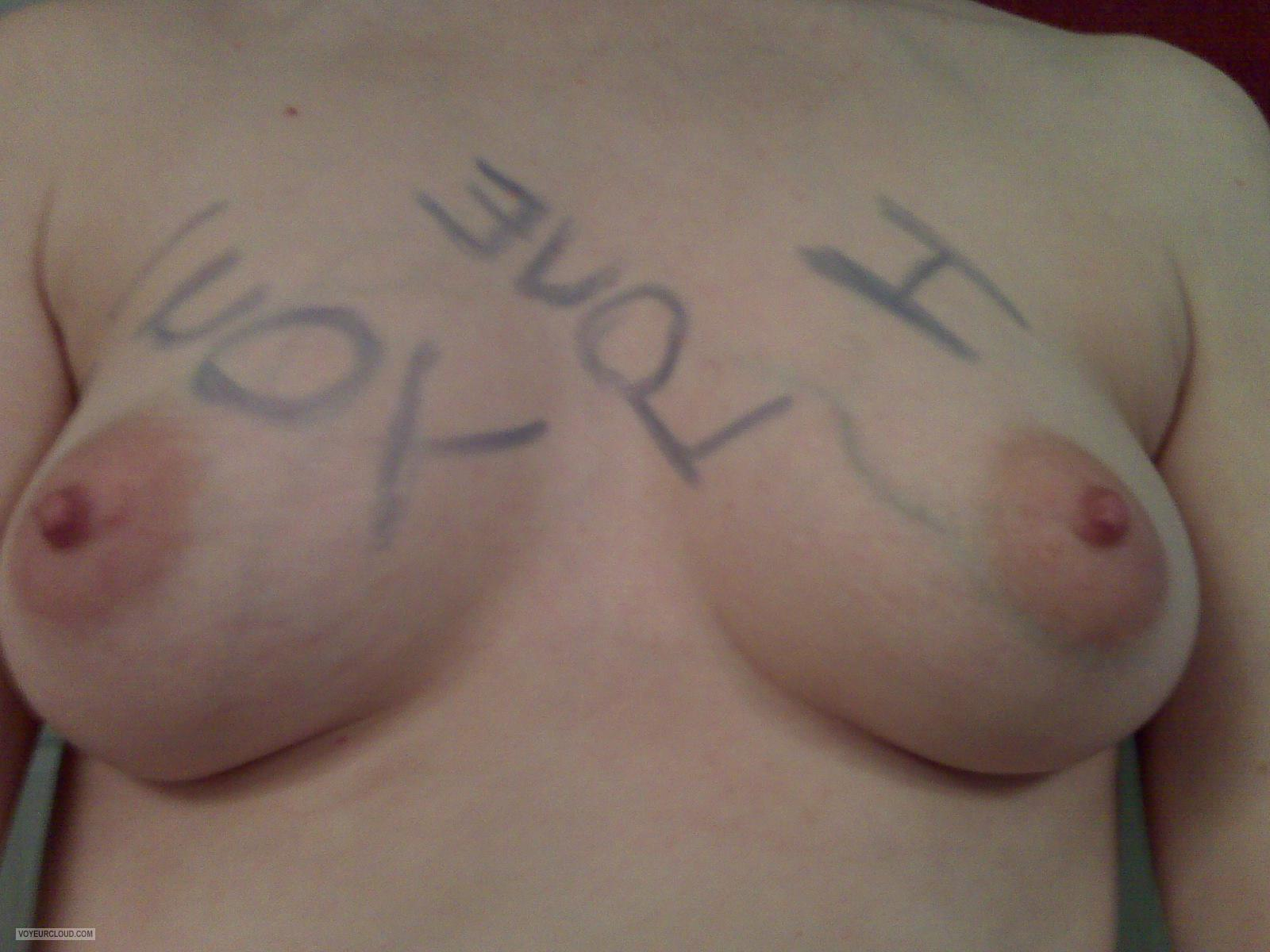 Small Tits Of My Wife Selfie by KKitty