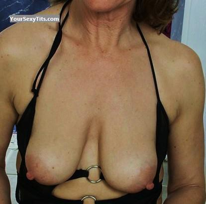 Tit Flash: Wife's Small Tits - Trisha from United States