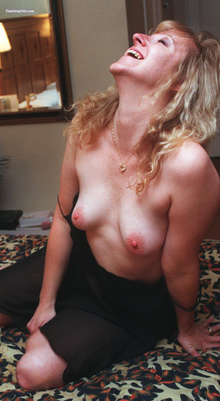 Tit Flash: Small Tits - Topless Gigggles from United States