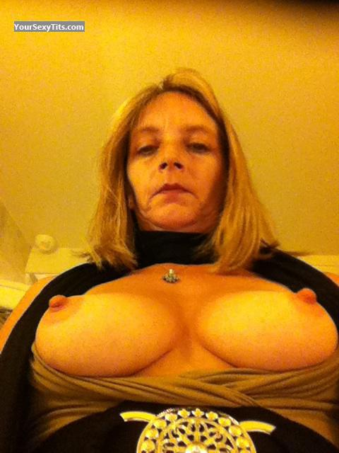Small Tits Of My Wife Topless Selfie by Tanya