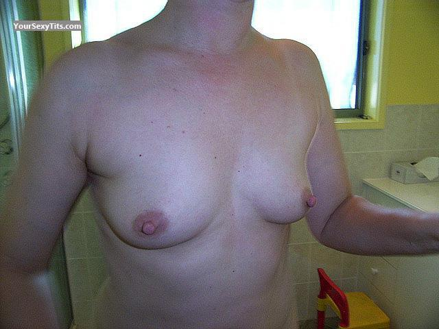 Tit Flash: Wife's Small Tits - Karen from Australia