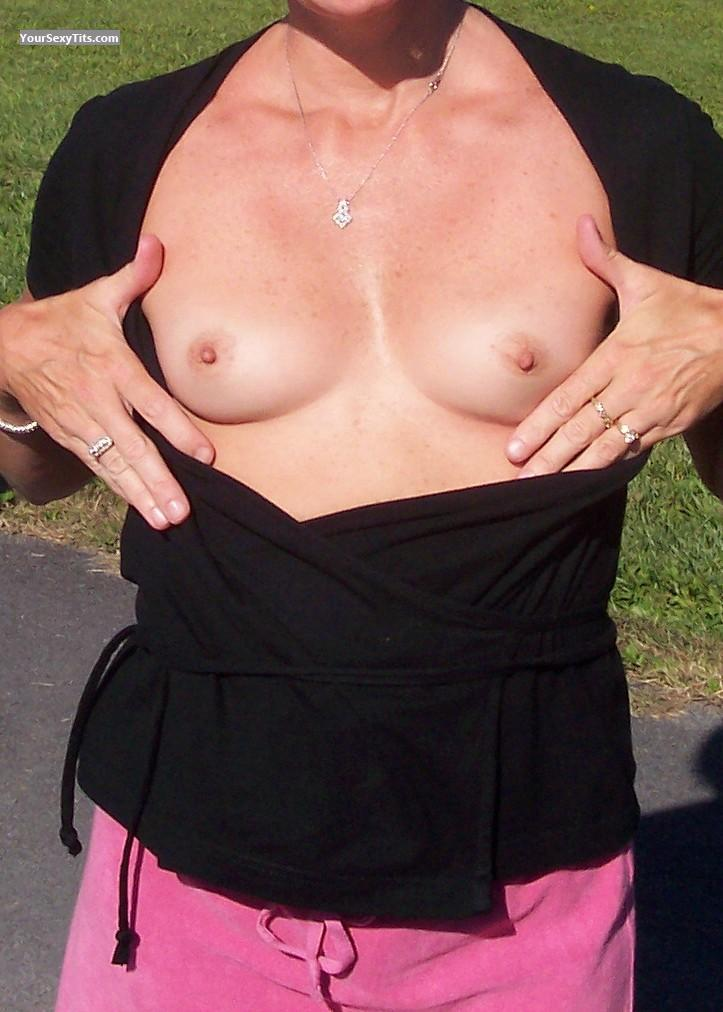 Tit Flash: Small Tits - Allison from United States