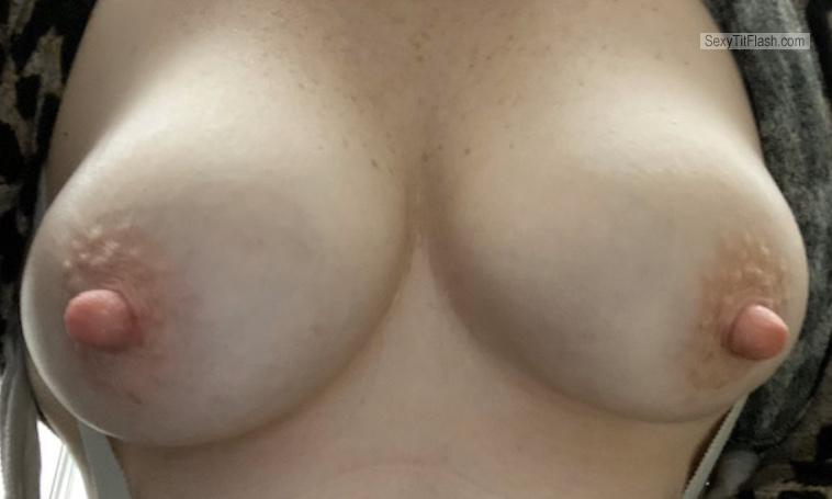 Tit Flash: My Small Tits (Selfie) - :) from United States
