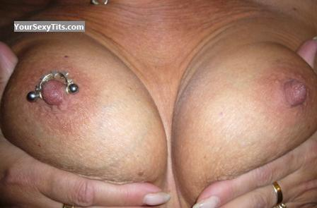 Tit Flash: Small Tits - Sunny from GermanyPierced Nipples