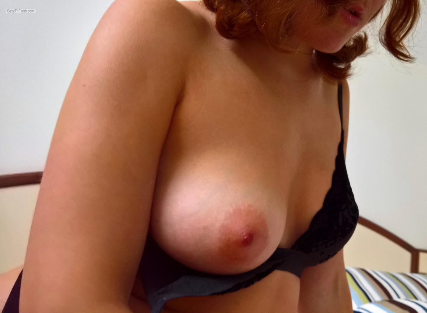 Tit Flash: Wife's Small Tits - Eliza from France