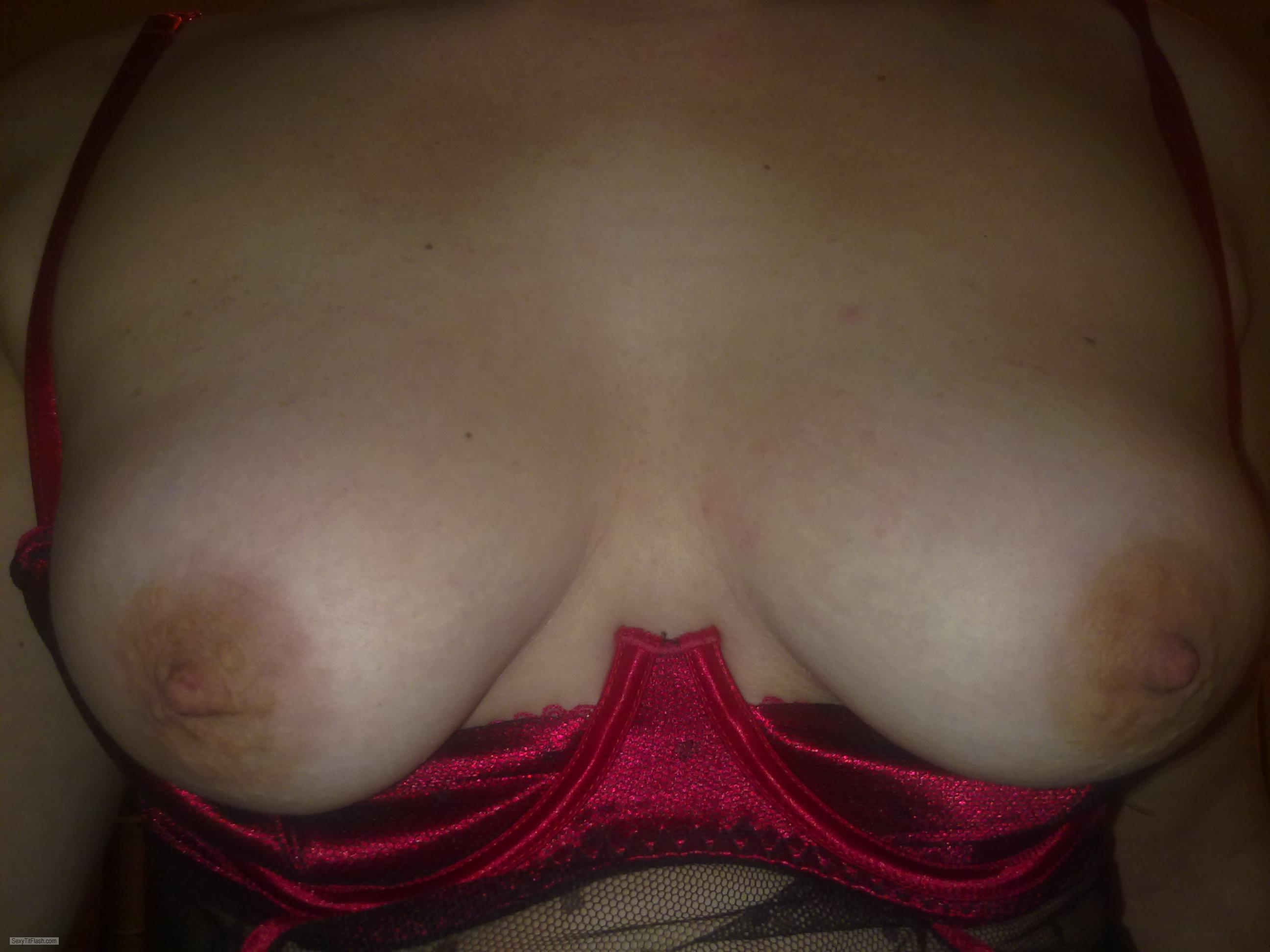Tit Flash: My Small Tits - PJ. from United Kingdom