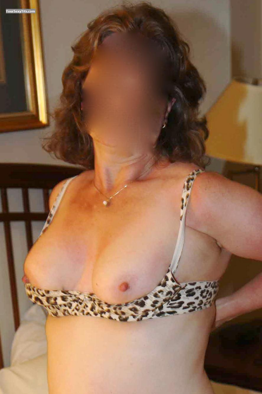 Tit Flash: Wife's Small Tits - Mrs Playfull from United States