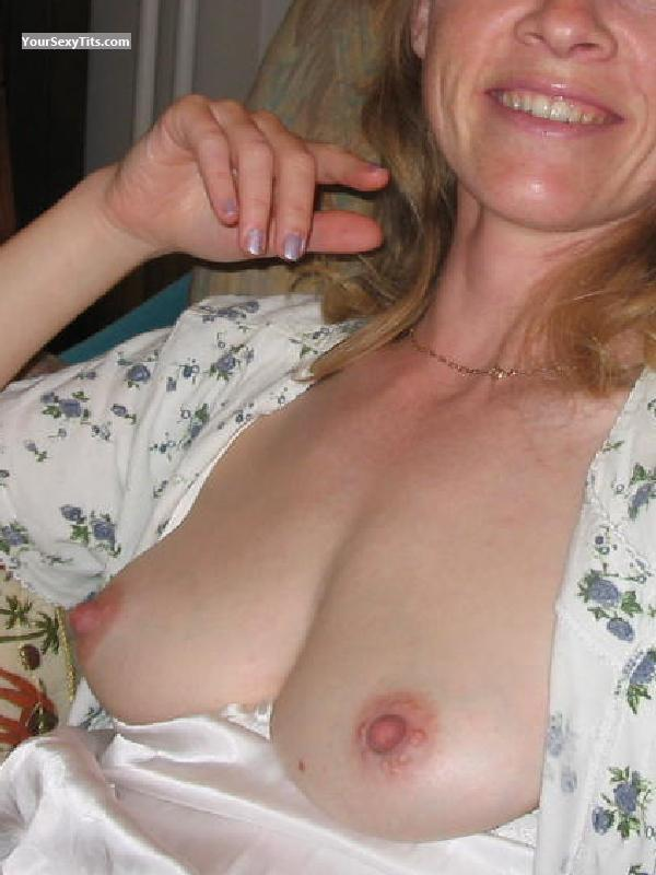 Tit Flash: Wife's Small Tits - Cathy from France