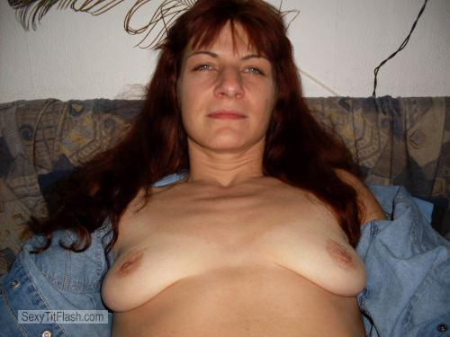 Tit Flash: Wife's Small Tits - Topless Annette from United States