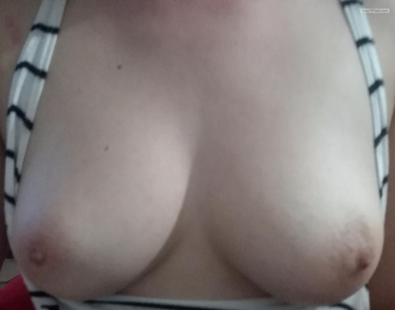 Tit Flash: My Tanlined Small Tits (Selfie) - Sc from United Kingdom