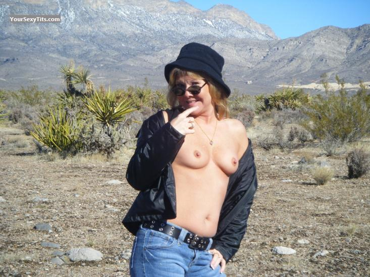 Tit Flash: Small Tits - Topless Summer from United States