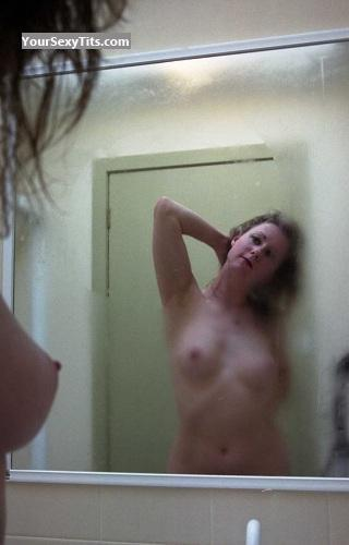 Tit Flash: My Small Tits (Selfie) - Topless Nyree Thorpe from Australia