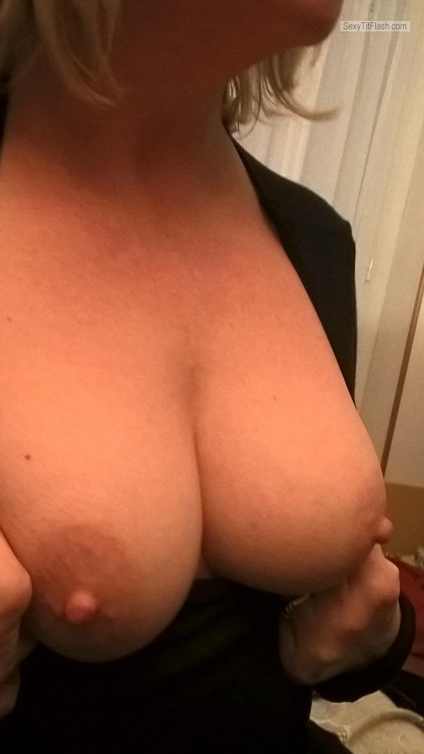 Tit Flash: My Small Tits - Topless Elisa from Italy