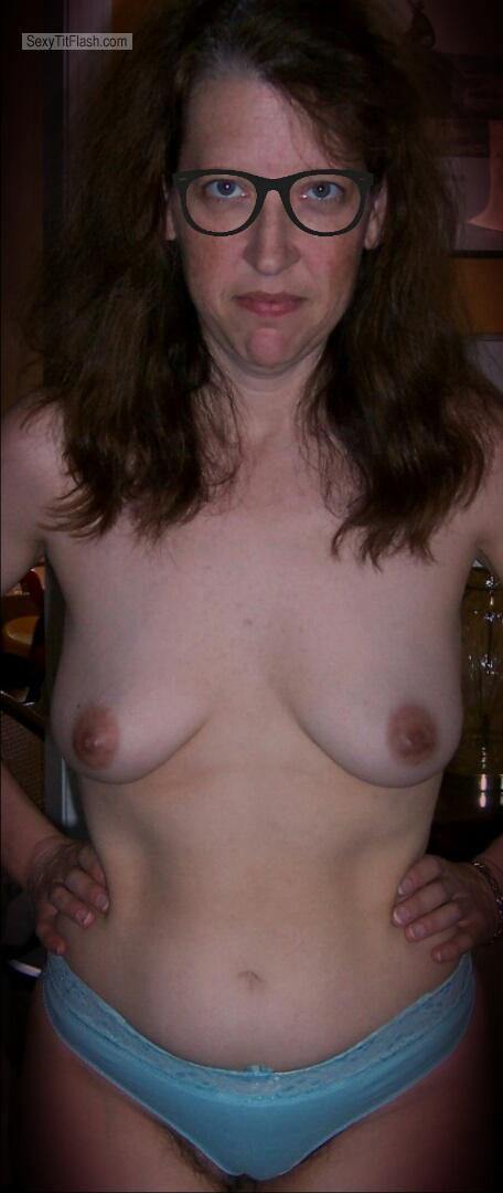 Tit Flash: My Small Tits - Topless Me from France