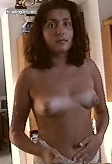 Tit Flash: Small Tits - Topless Lena from Ukraine