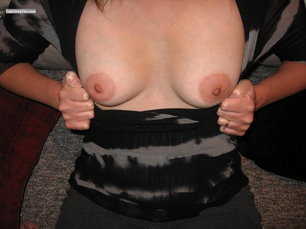 Tit Flash: Wife's Small Tits - Chrystal from United States
