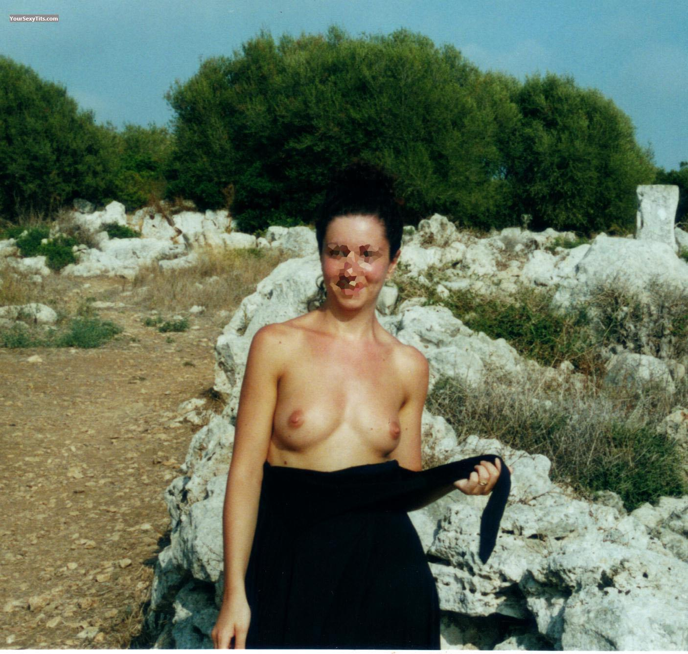 Tit Flash: Small Tits - Eva from Spain