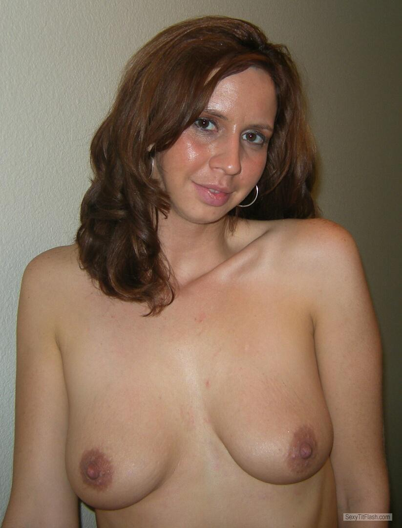 Tit Flash: My Small Tits - Topless MILF from United States