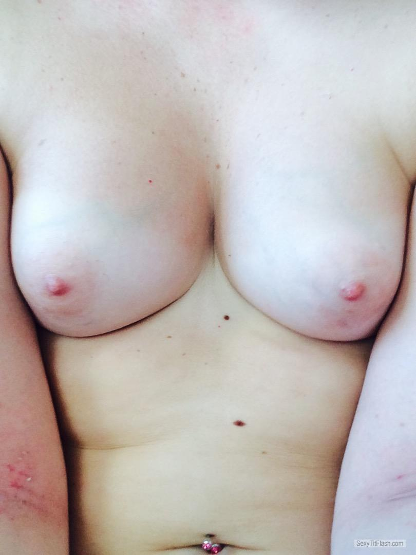 Tit Flash: My Small Tits (Selfie) - Lauren from United Kingdom