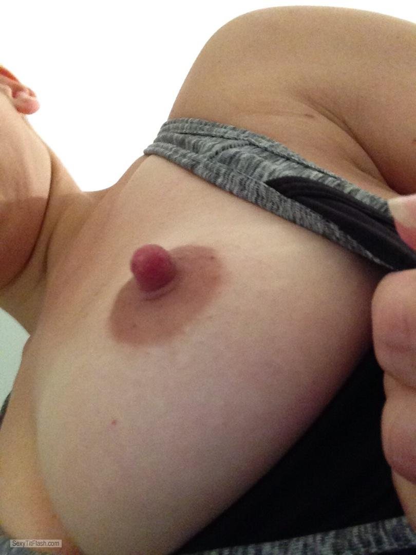 Tit Flash: My Small Tits (Selfie) - Topless Hotwife from United Kingdom