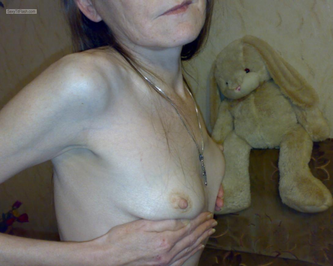 Tit Flash: Wife's Small Tits - Maus from Germany