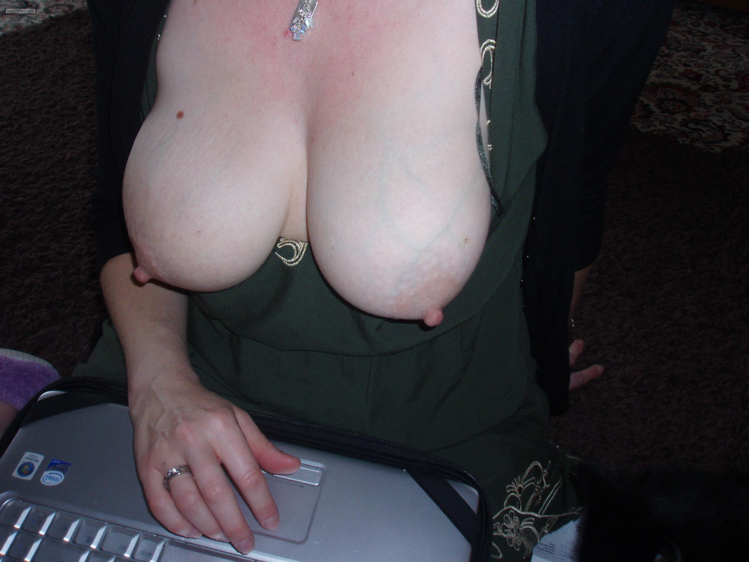 Tit Flash: My Big Tits - Katie from United States