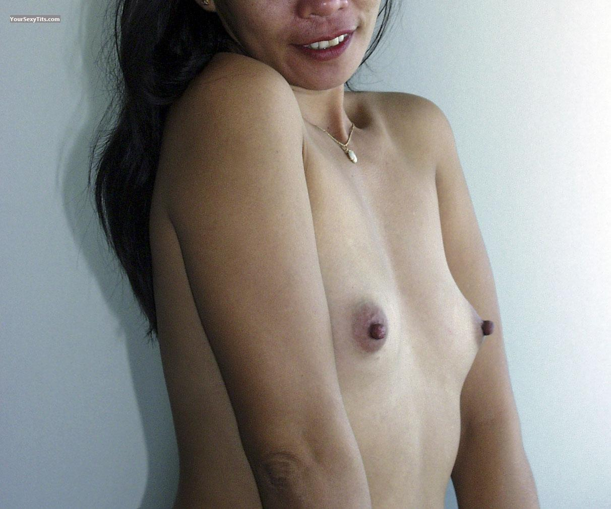 Tit Flash: Girlfriend's Small Tits - Jenny from Philippines